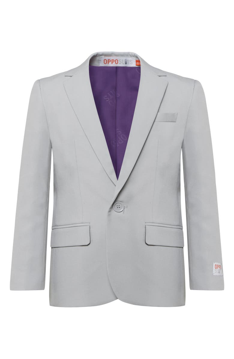 OPPOSUITS Groovy Grey Two-Piece Suit with Tie, Main, color, 050
