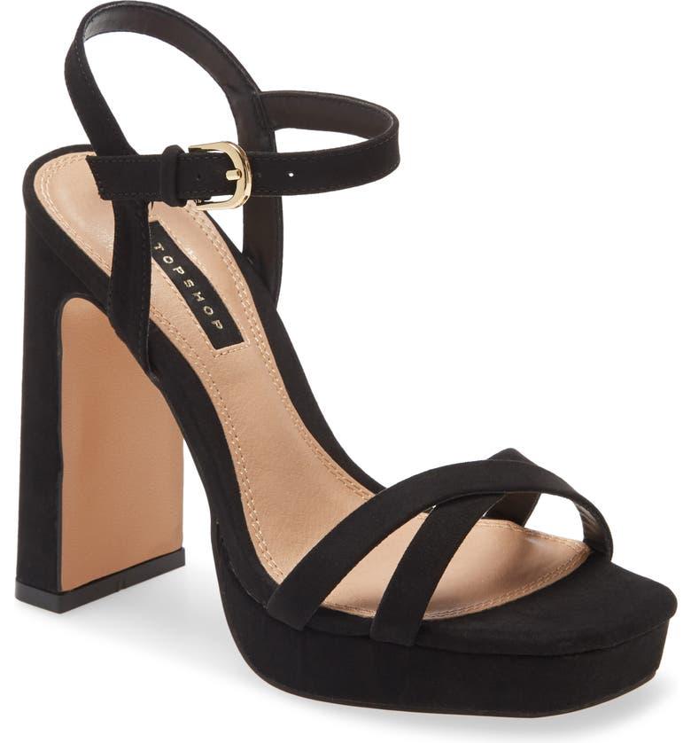 TOPSHOP Sienna Platform Sandal, Main, color, BLACK