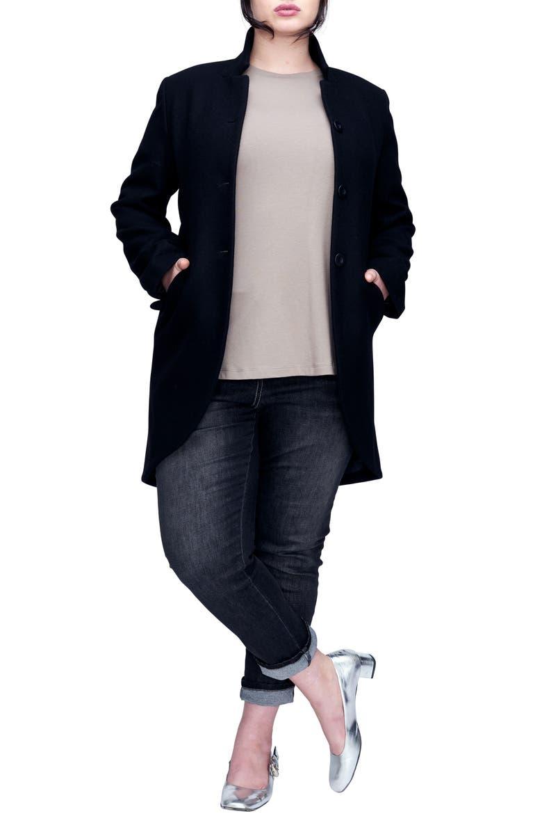 UNIVERSAL STANDARD Beas Jacket, Main, color, BLACK