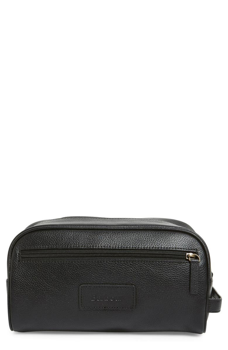 BARBOUR Leather Travel Kit, Main, color, 001