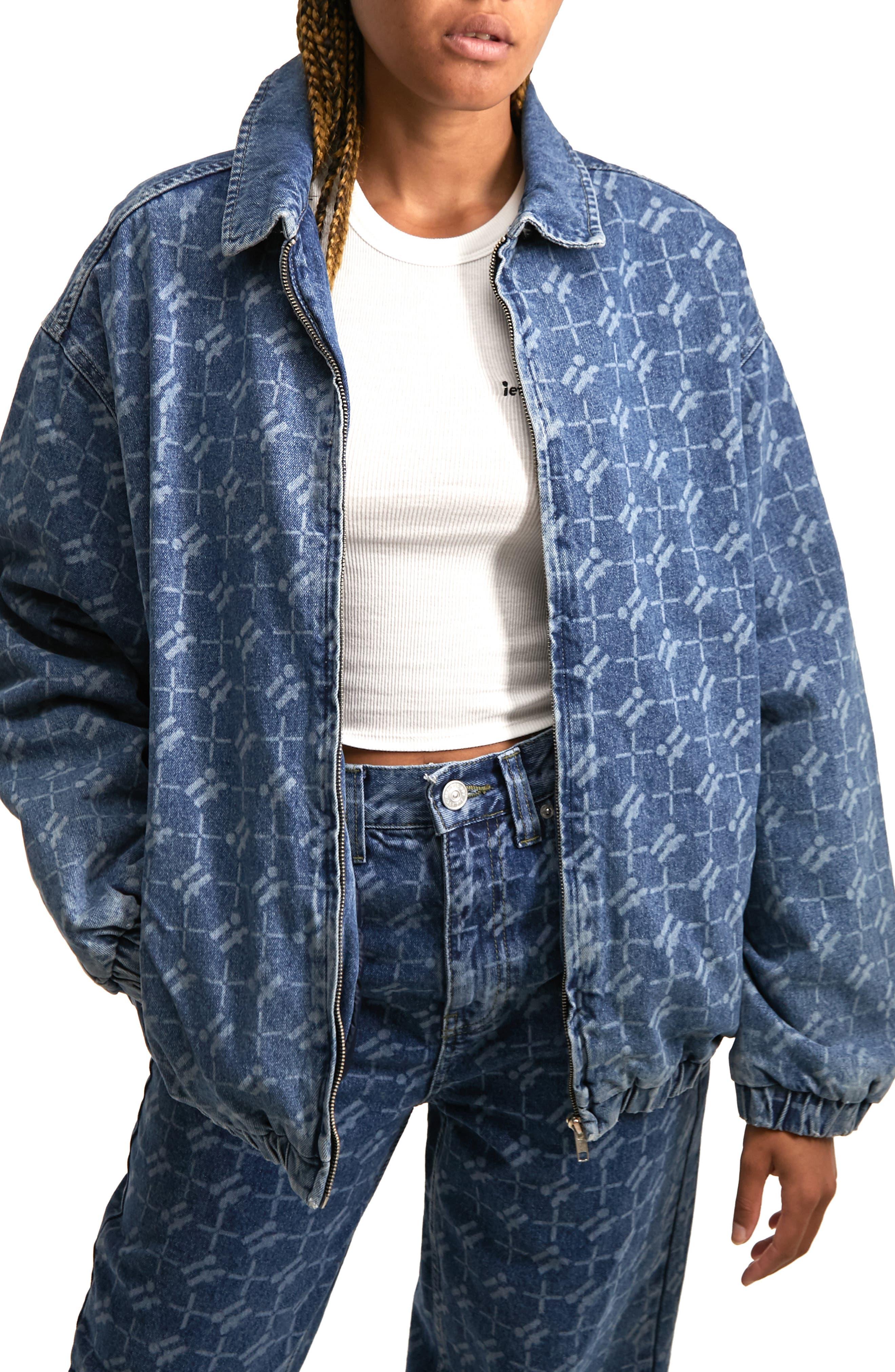 Women's Harrington Monogram Denim Jacket