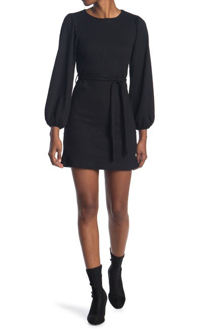 Image of BAILEY BLUE Tie Waist Flippy Sweater Dress