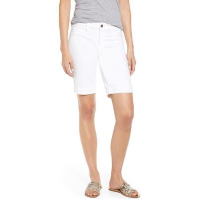 Jen7 By 7 For All Mankind Denim Bermuda Shorts, White