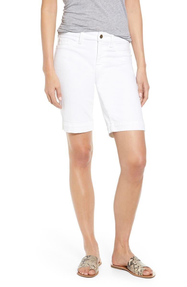 JEN7 BY 7 FOR ALL MANKIND Denim Bermuda Shorts, Main, color, WHITE