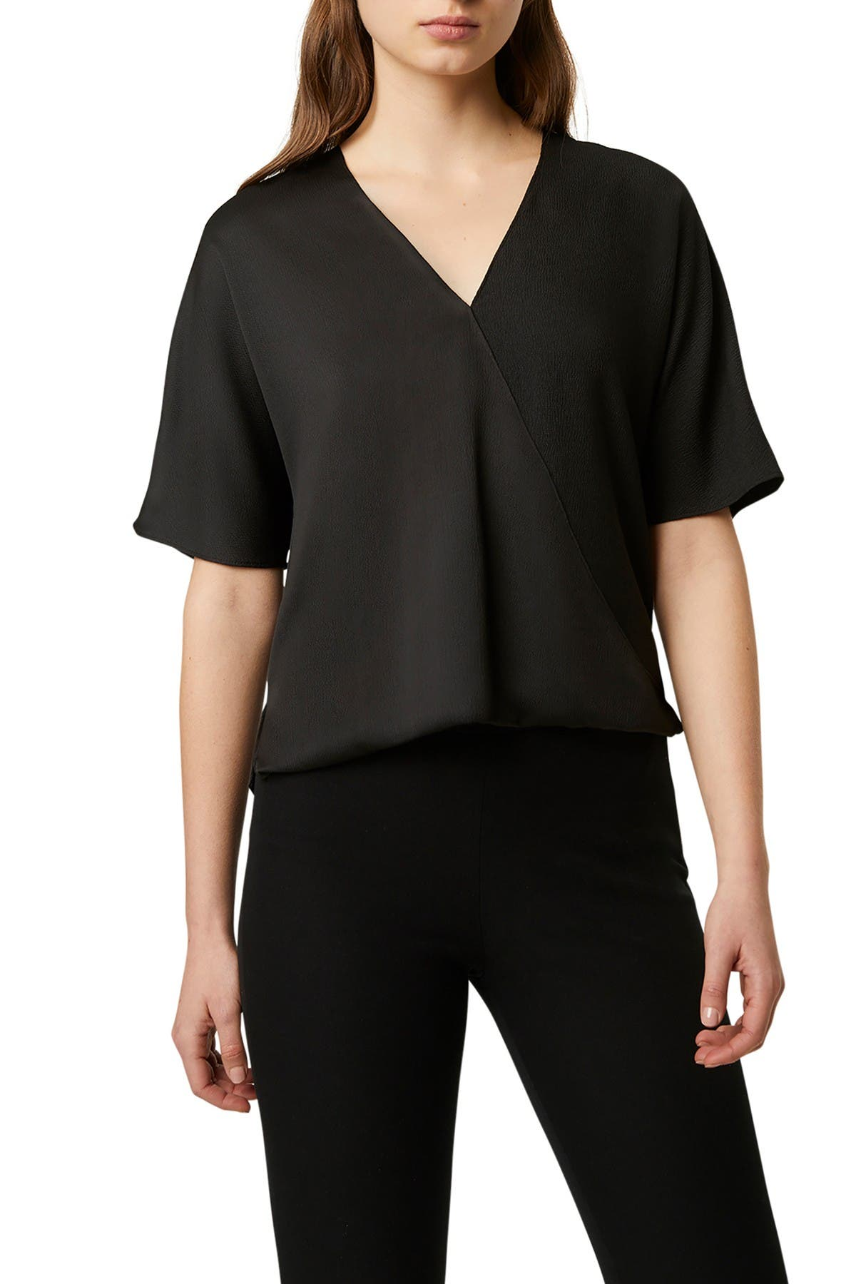 Image of French Connection Alessia Satin Wrap Blouse