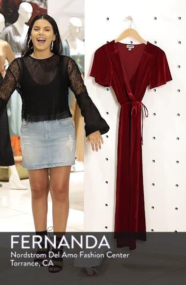 Velvet Faux Wrap Midi Dress, sales video thumbnail