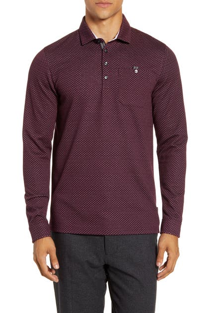 Ted Baker Tops OUTOF SLIM FIT JACQUARD POLO