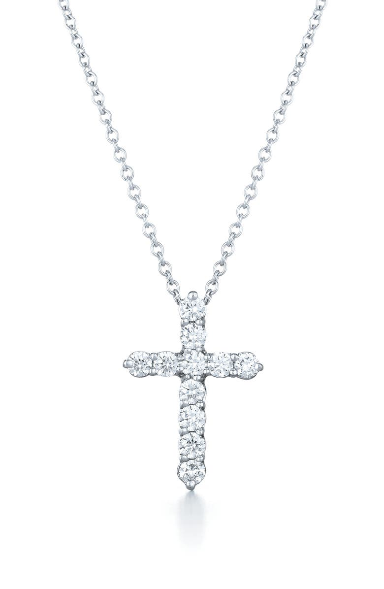3c2452a49 Faith Cross Pendant Necklace, Main, color, WHITE GOLD
