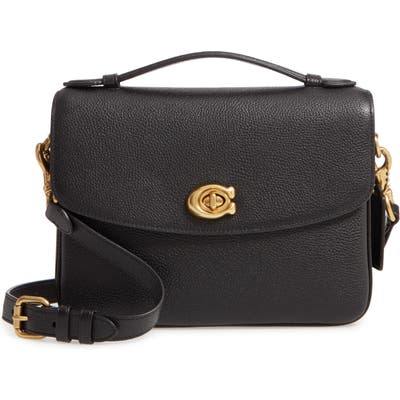Coach Cassie Leather Top Handle Bag - Black