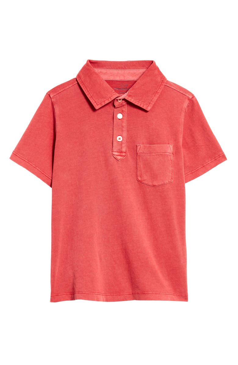 VINEYARD VINES Sun Washed Pocket Polo, Main, color, JETTY RED