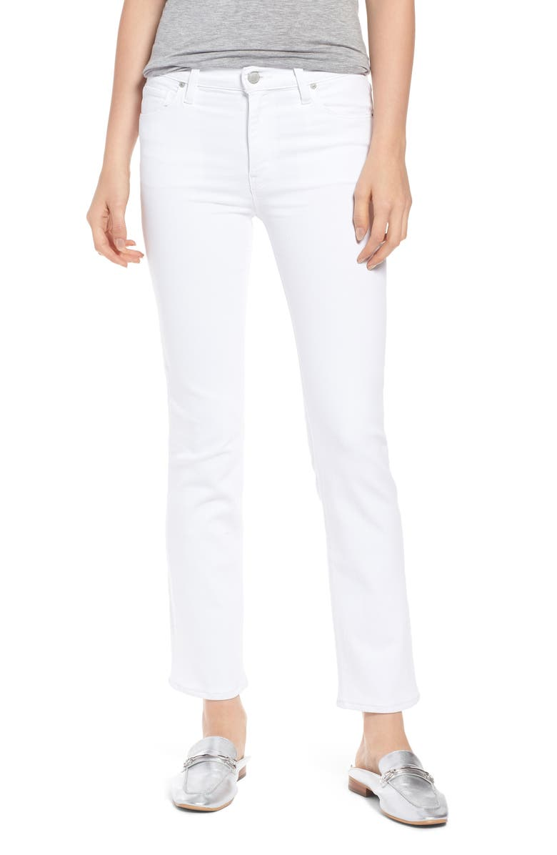 HUDSON JEANS Nico Ankle Straight Leg Jeans, Main, color, WHITE