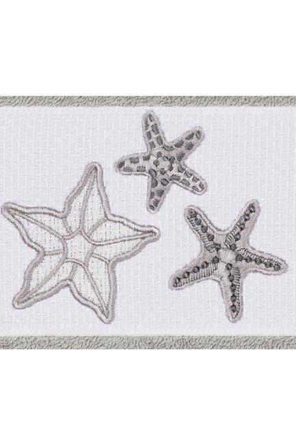 Image of LINUM HOME Lydia Embellished Hand Towel - Set of 2 - Light Grey