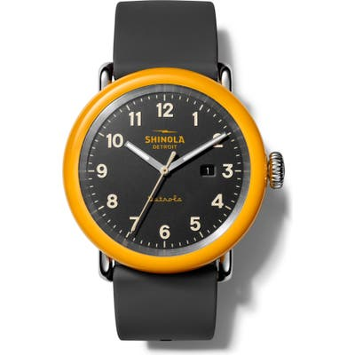 Shinola Detrola Silicone Strap Watch, 4m