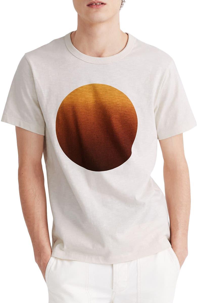 MADEWELL Ombré Sun Graphic Crewneck Tee, Main, color, PARCHMENT