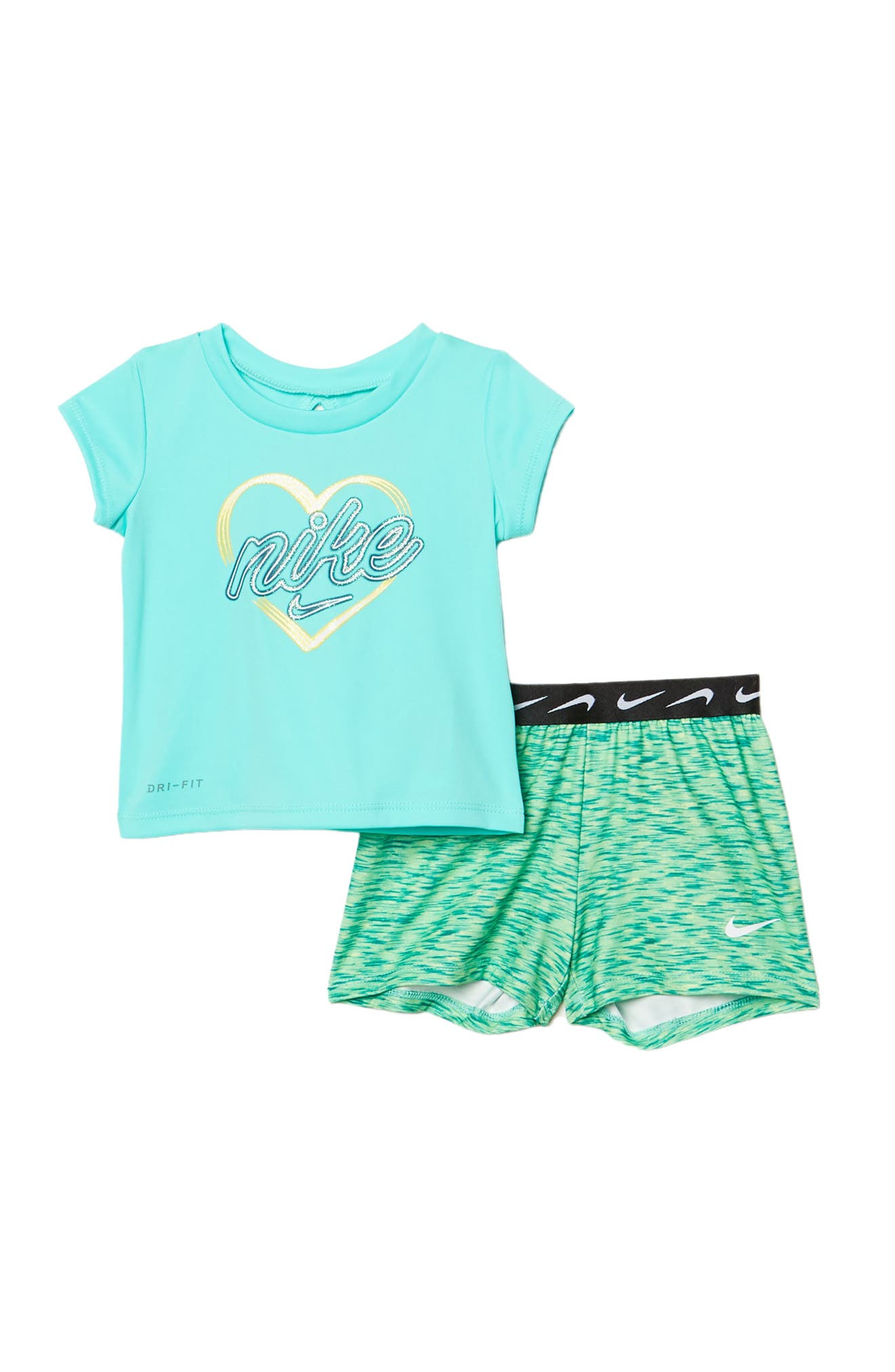 Image of Nike Graphic Top & Shorts 2-Piece Set