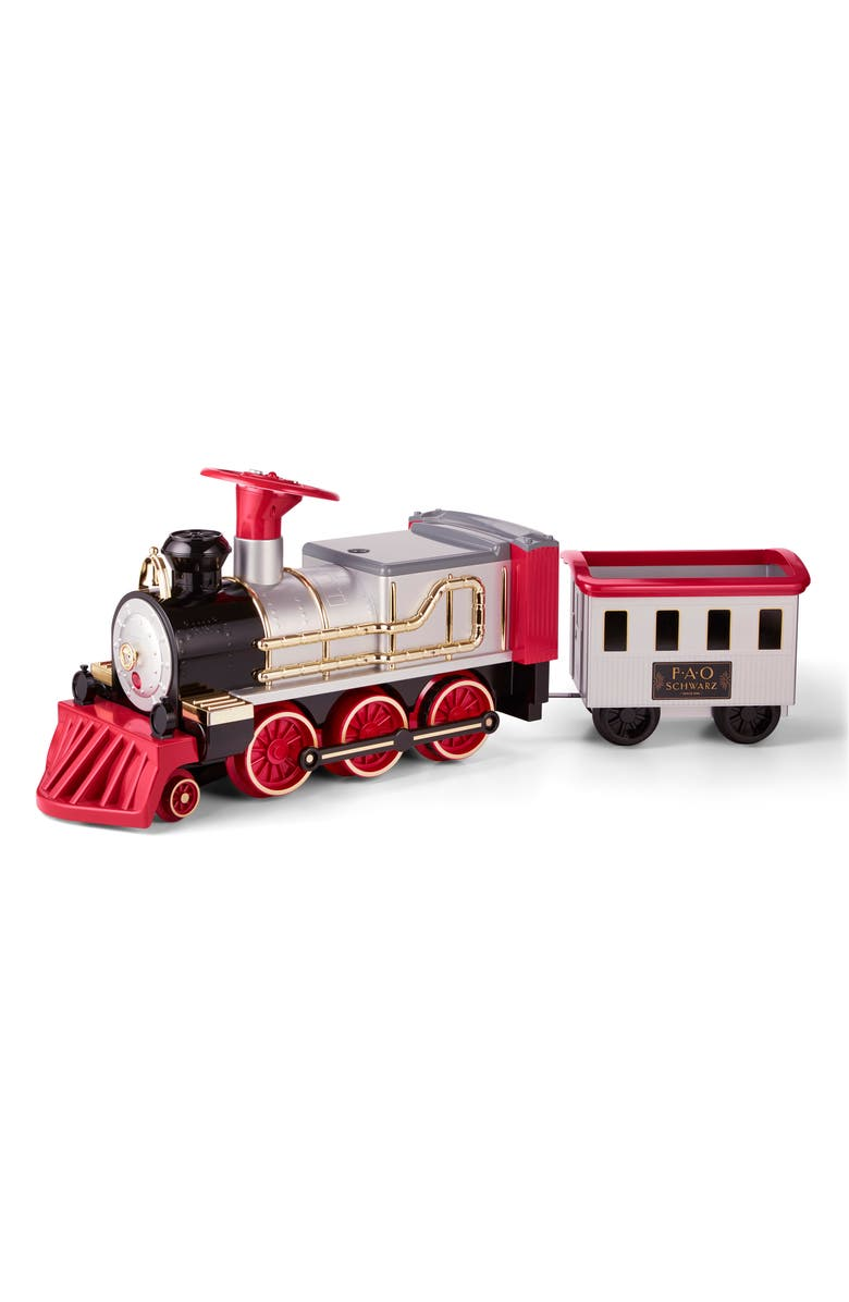 FAO SCHWARZ All Aboard Ride-On Train with Tracks, Main, color, MULTI