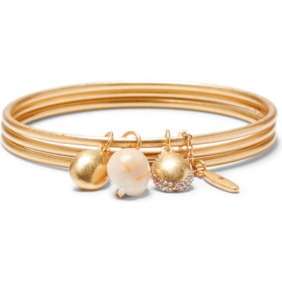 Sole Society Charm Triple Layer Bangle Bracelet