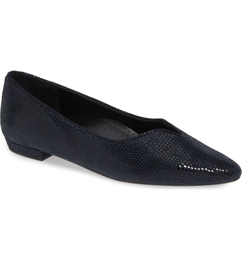 VANELI 'Ganet' Pointy Toe Flat, Main, color, NAVY LEATHER