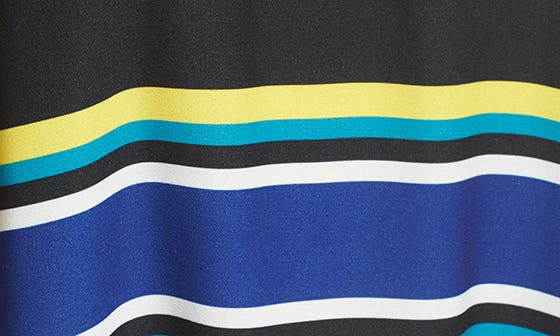 BLACK- BLUE STRIPE