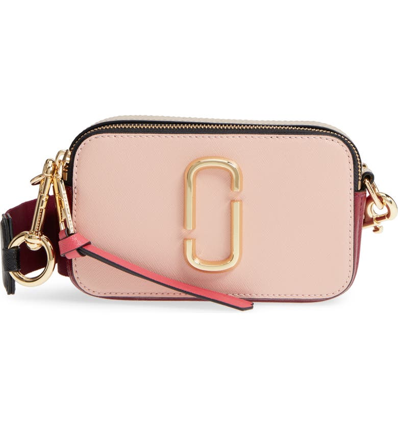 THE MARC JACOBS Snapshot Crossbody Bag, Main, color, ROSE MULTI