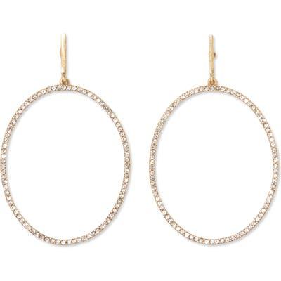 Sole Society Crystal Pave Frontal Hoop Earrings