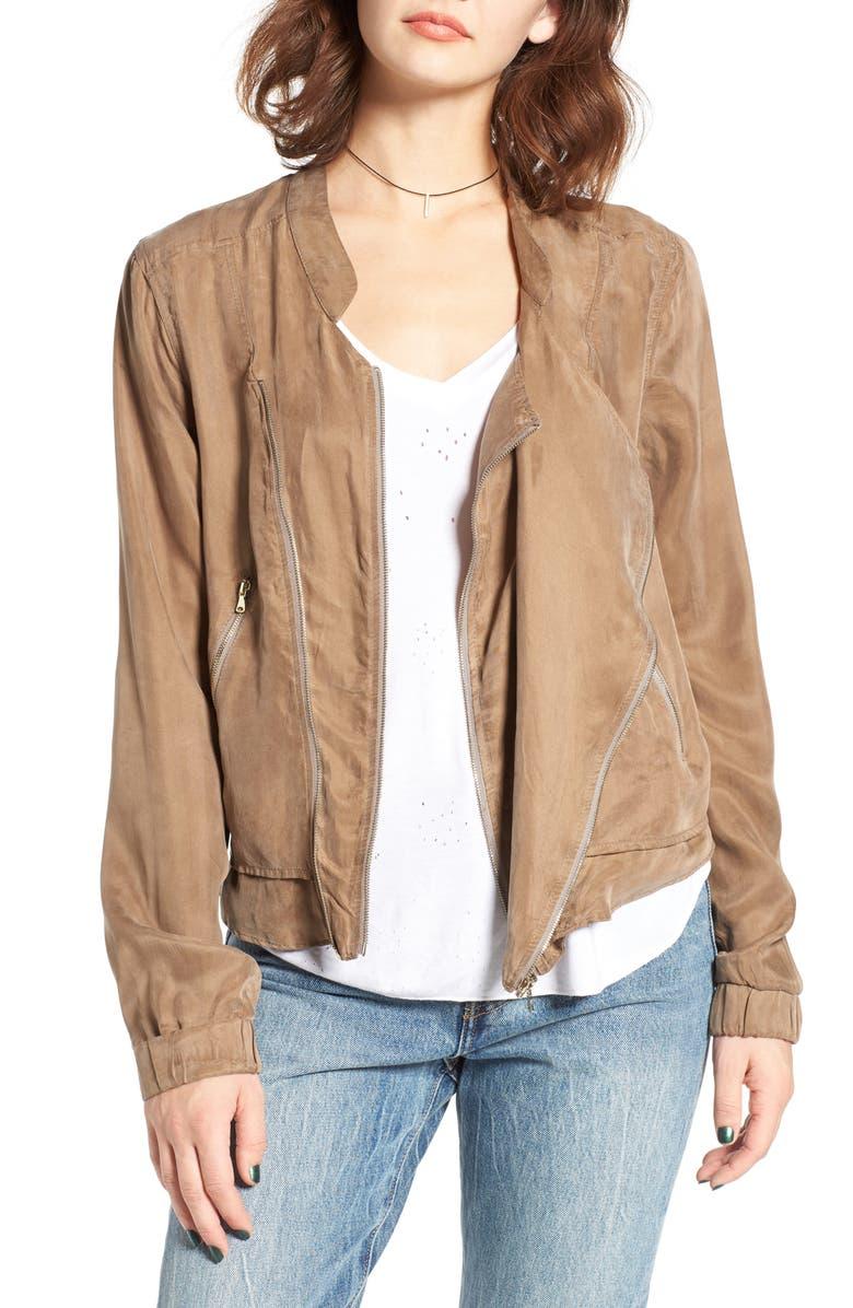 BLANKNYC Twill Jacket, Main, color, OLIVE JUICE