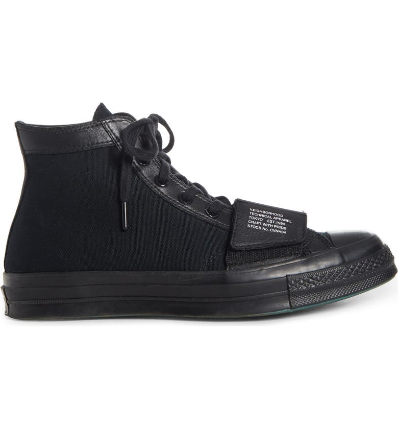 CONVERSE x NEIGHBORHOOD Chuck Taylor<sup>®</sup> All Star<sup>®</sup> 70 High Top Sneaker, Main, color, 001