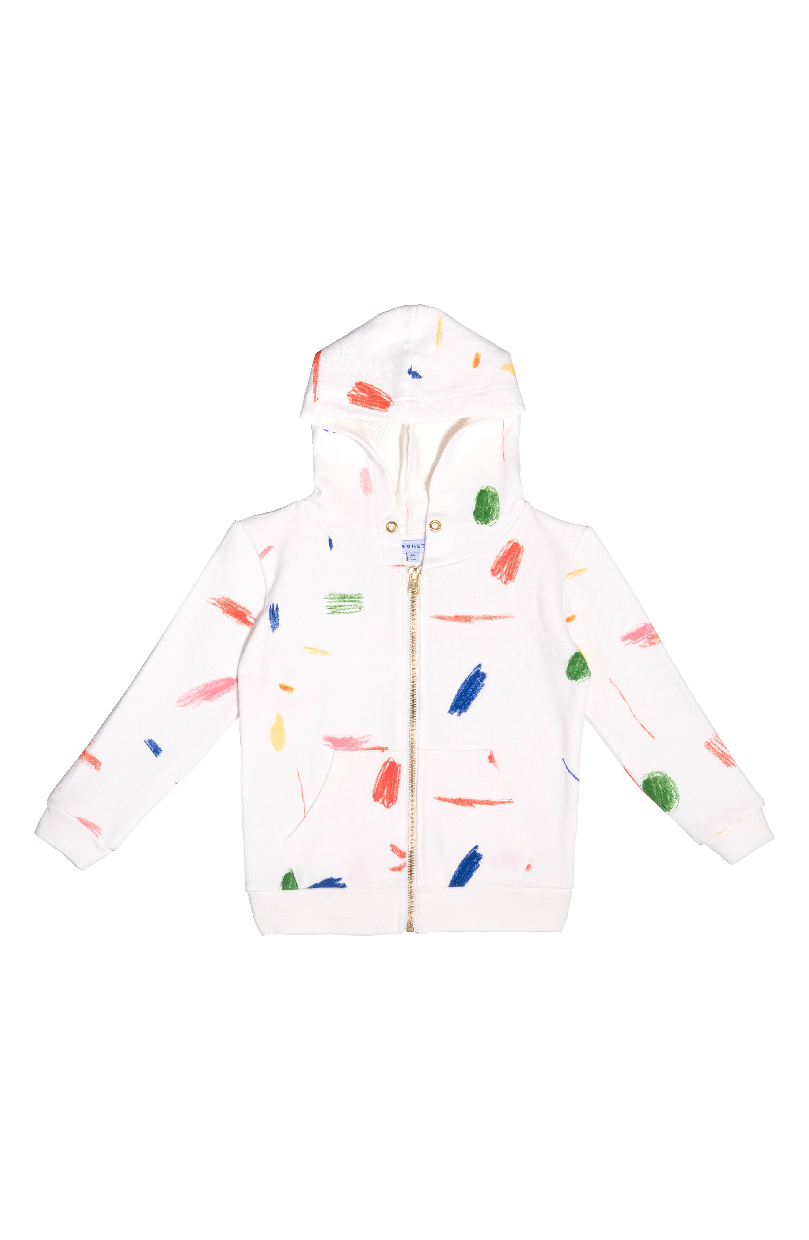 Maisonette Doodle Collection Hoodie Size 4Y  Pink