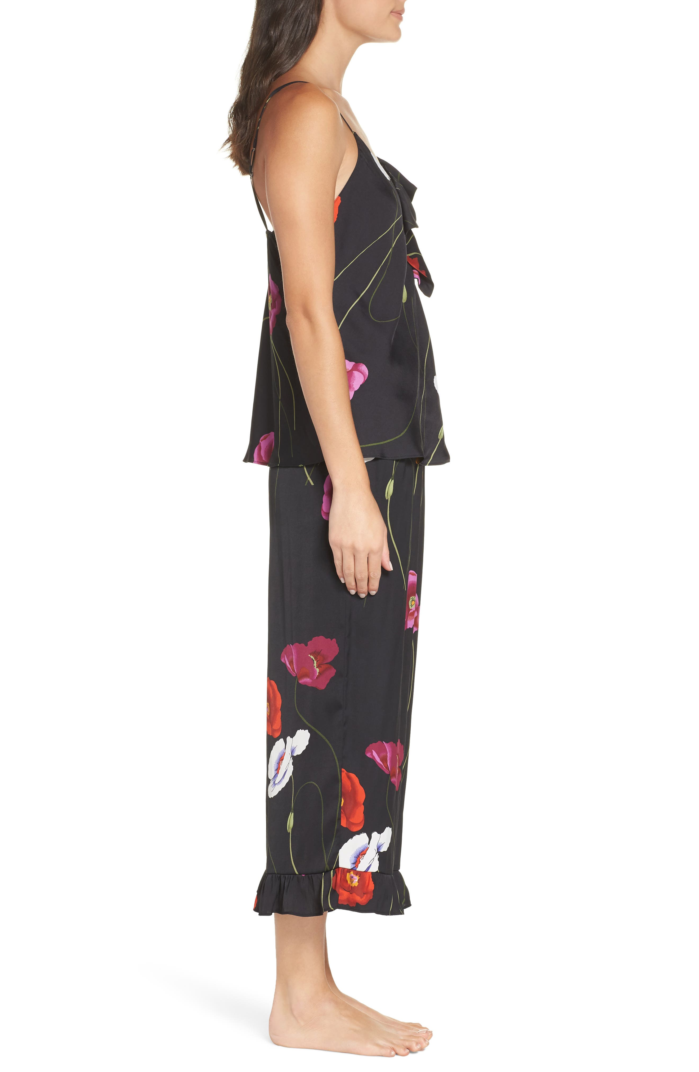 ,                             Freestyle Cami Pajamas,                             Alternate thumbnail 3, color,                             BLACK PEARL