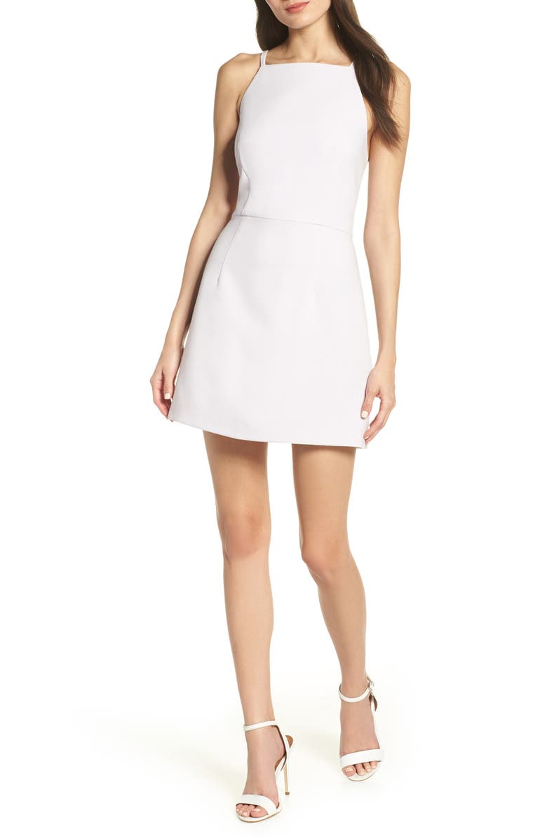 FRENCH CONNECTION Whisper Light Sheath Minidress, Main, color, LAVENDER FROST