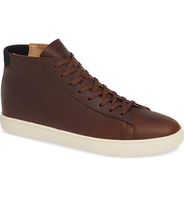 CLAE Bradley Mid Sneaker, Main, color, COCOA LEATHER