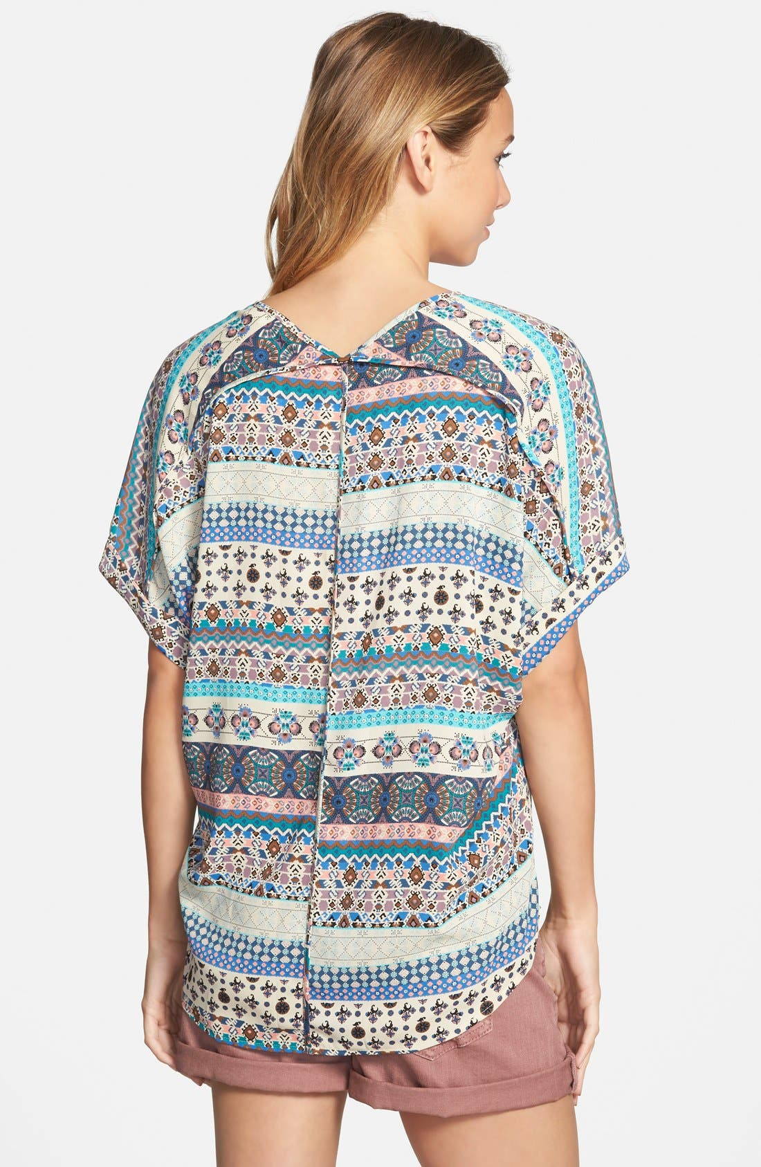 ,                             Lush Cuff Sleeve Woven Tee,                             Alternate thumbnail 31, color,                             250