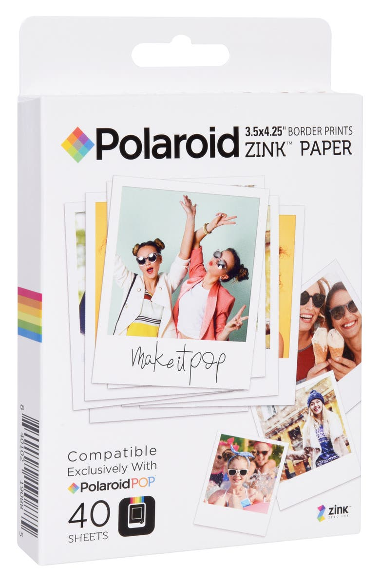 POLAROID ZINK<sup>®</sup> Zero Ink 40-Pack Instant Photo Paper, Main, color, 100