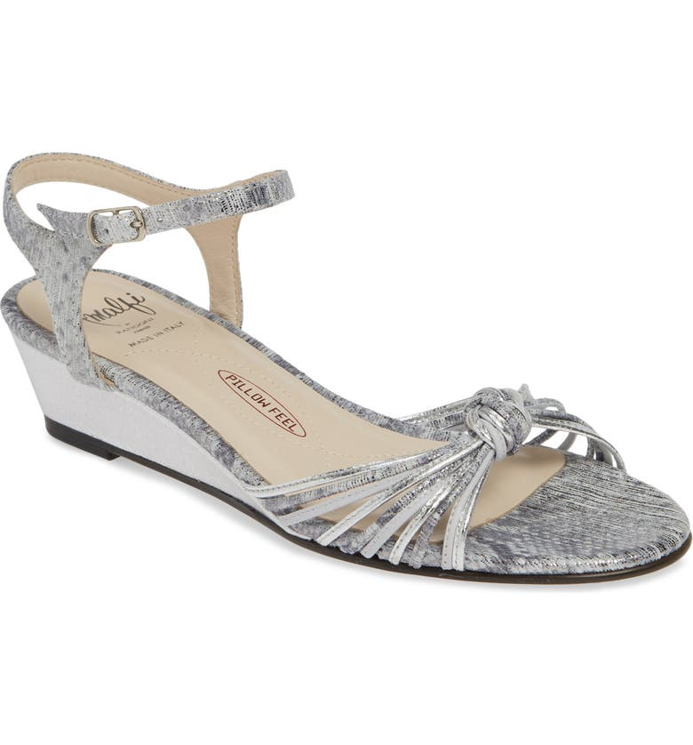 AMALFI BY RANGONI Maldive Wedge Quarter Strap Sandal, Main, color, ANIMAL PRINT LEATHER