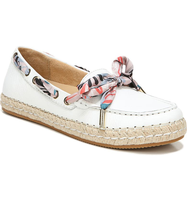 NATURALIZER Annabeth Flat, Main, color, WHITE LEATHER