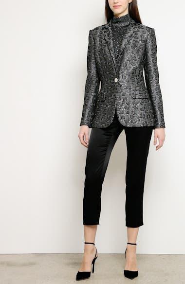 Sequin Animal Jacquard Knit Jacket, video thumbnail