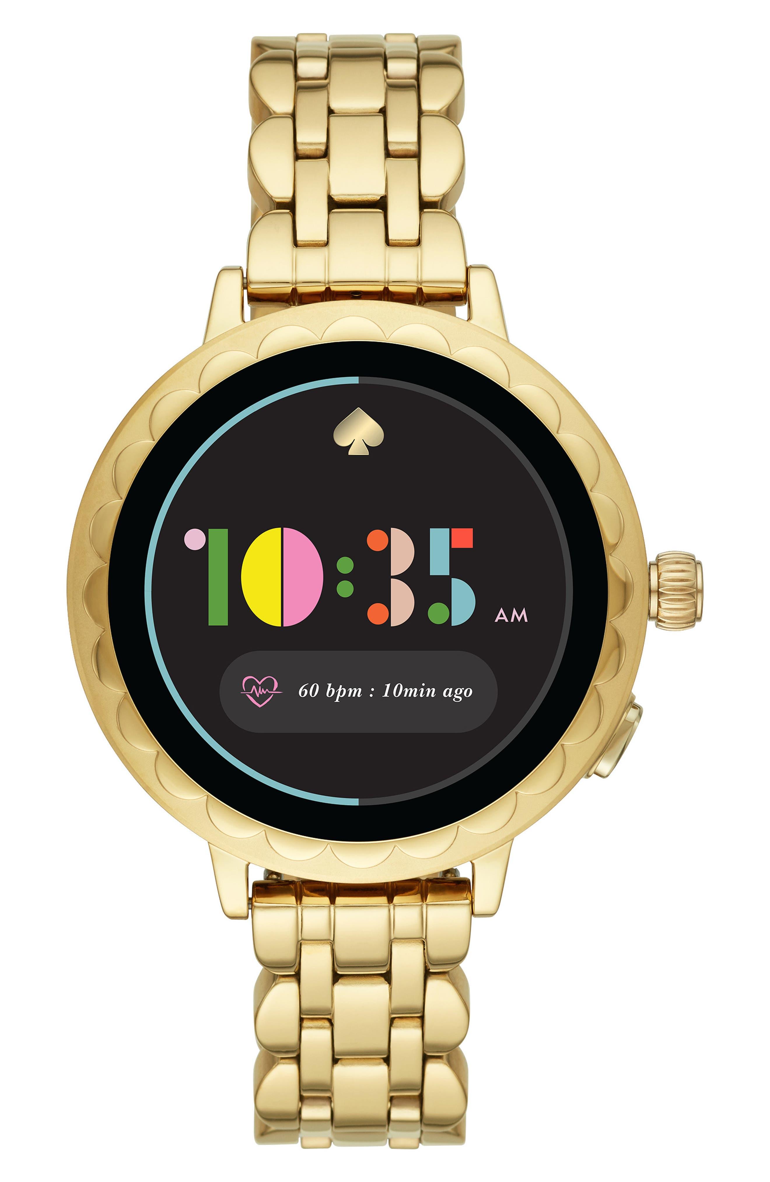 Image of kate spade new york women's raven scallop smart watch 2, 41mm