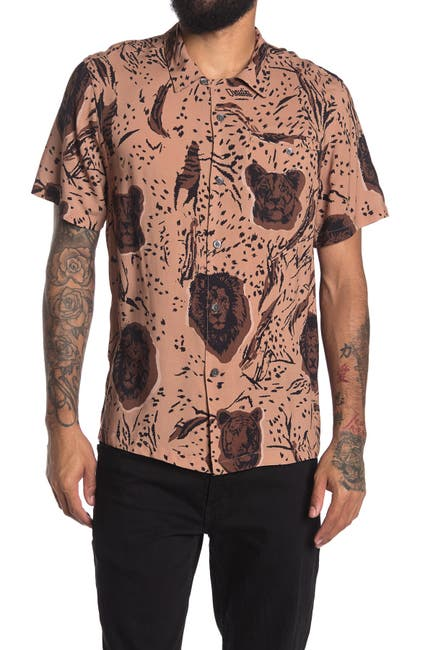 Image of OVADIA AND SONS Big Cats Button Front Shirt