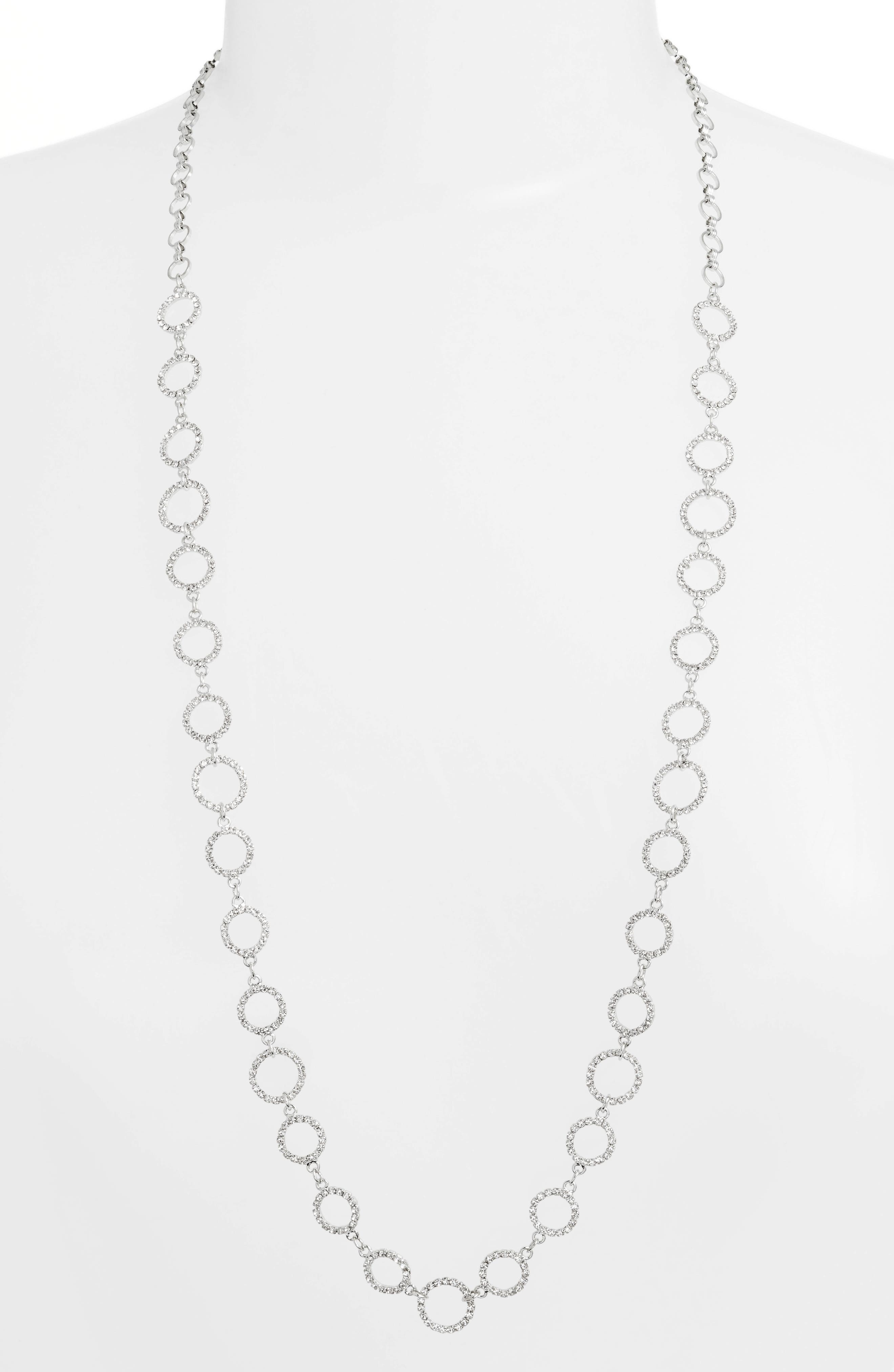 Crystal Ring Necklace
