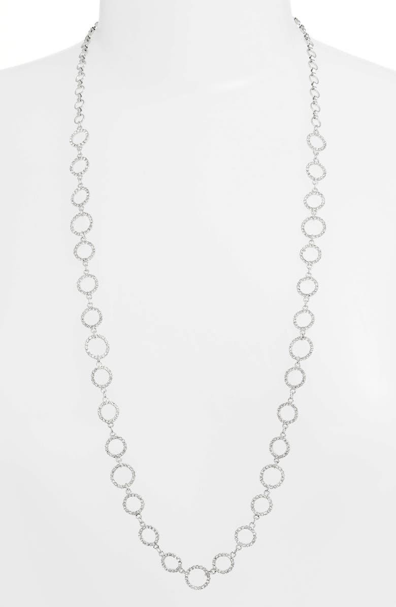 CRISTABELLE Crystal Ring Necklace, Main, color, CRYSTAL