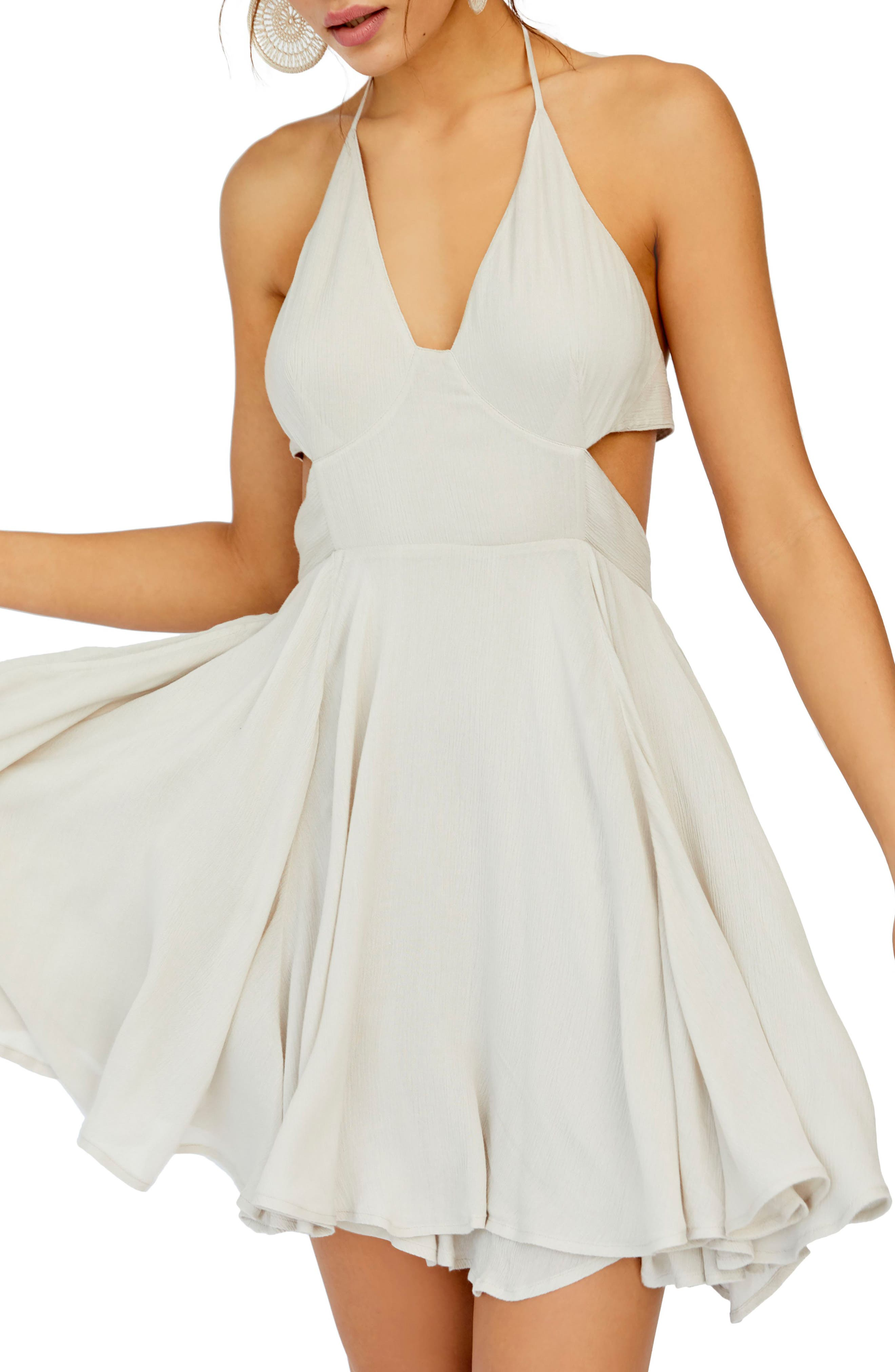 Endless Summer By Free People Lillie Halter Minidress, Ivory