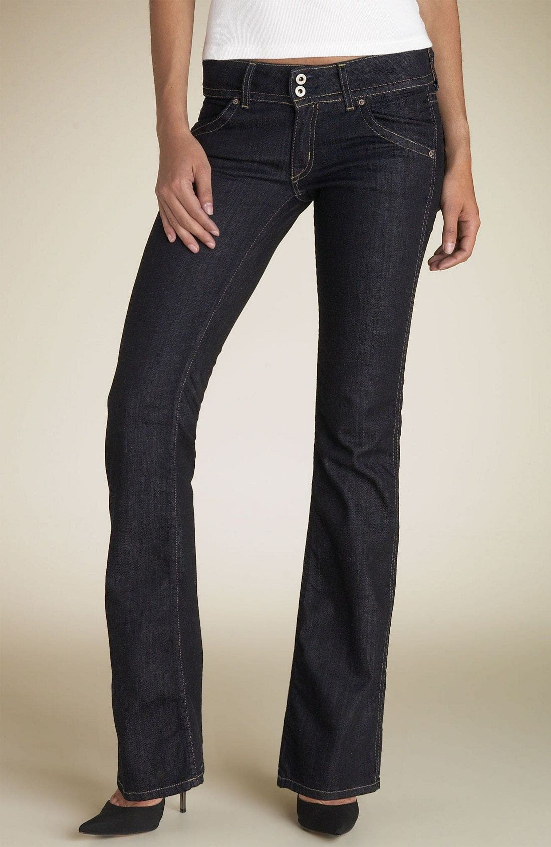 ,                             Signature Flap Pocket Bootcut Jeans,                             Main thumbnail 101, color,                             IQJ