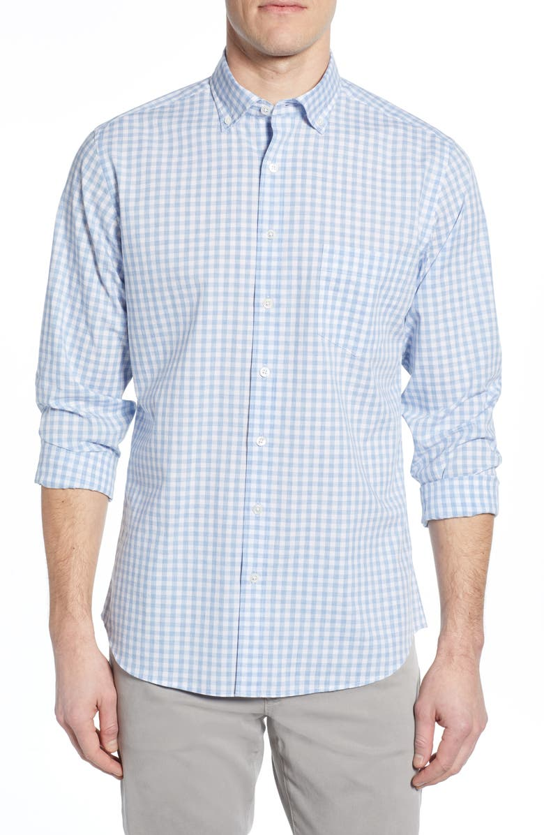 RODD & GUNN Jervois Regular Fit Check Sport Shirt, Main, color, 400