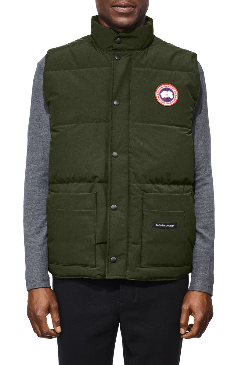 CANADA GOOSE Freestyle Regular Fit Down Vest, Main, color, MILITARY GREEN