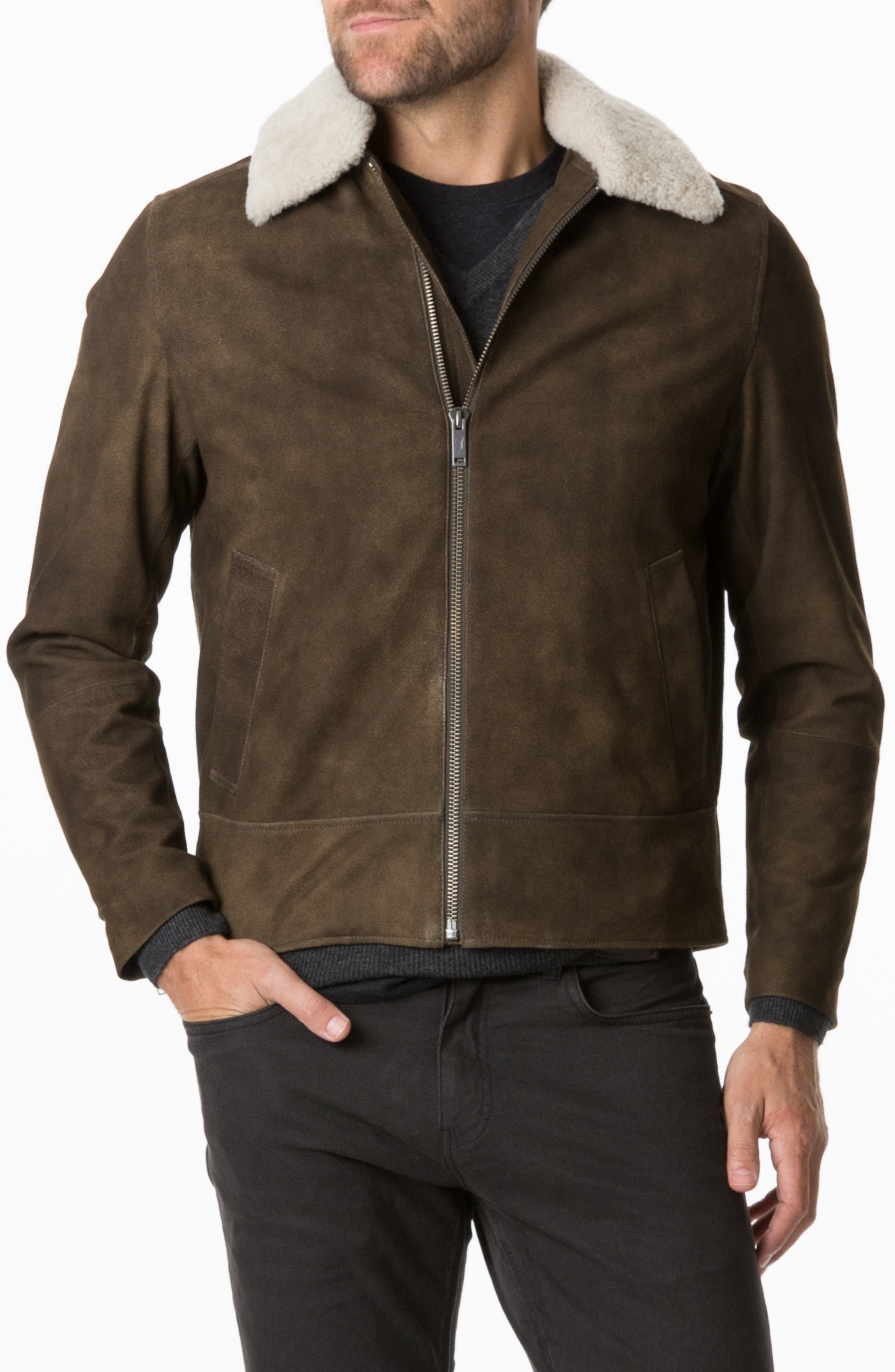 RODD AND GUNN Mayfield Park Genuine Shearling Trimmed Jacket at Nordstrom Rack