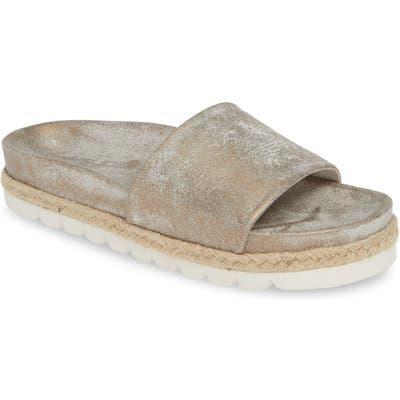 Jslides Espadrille Slide Sandal- Metallic