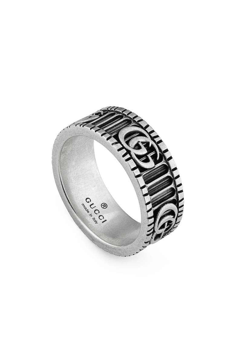 GUCCI GG Marmont Band Ring, Main, color, STERLING SILVER