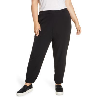 Plus Size Eileen Fisher Track Pants, Black