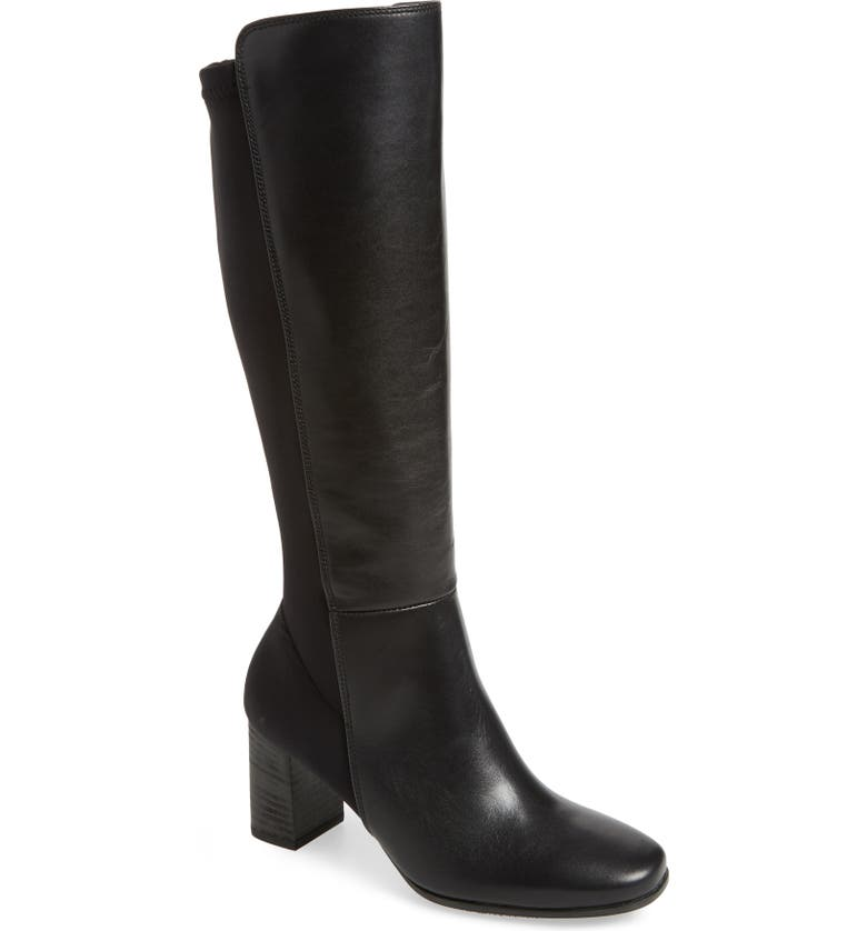 PAUL GREEN Belmont Knee High Boot, Main, color, BLACK HYDRO LEATHER