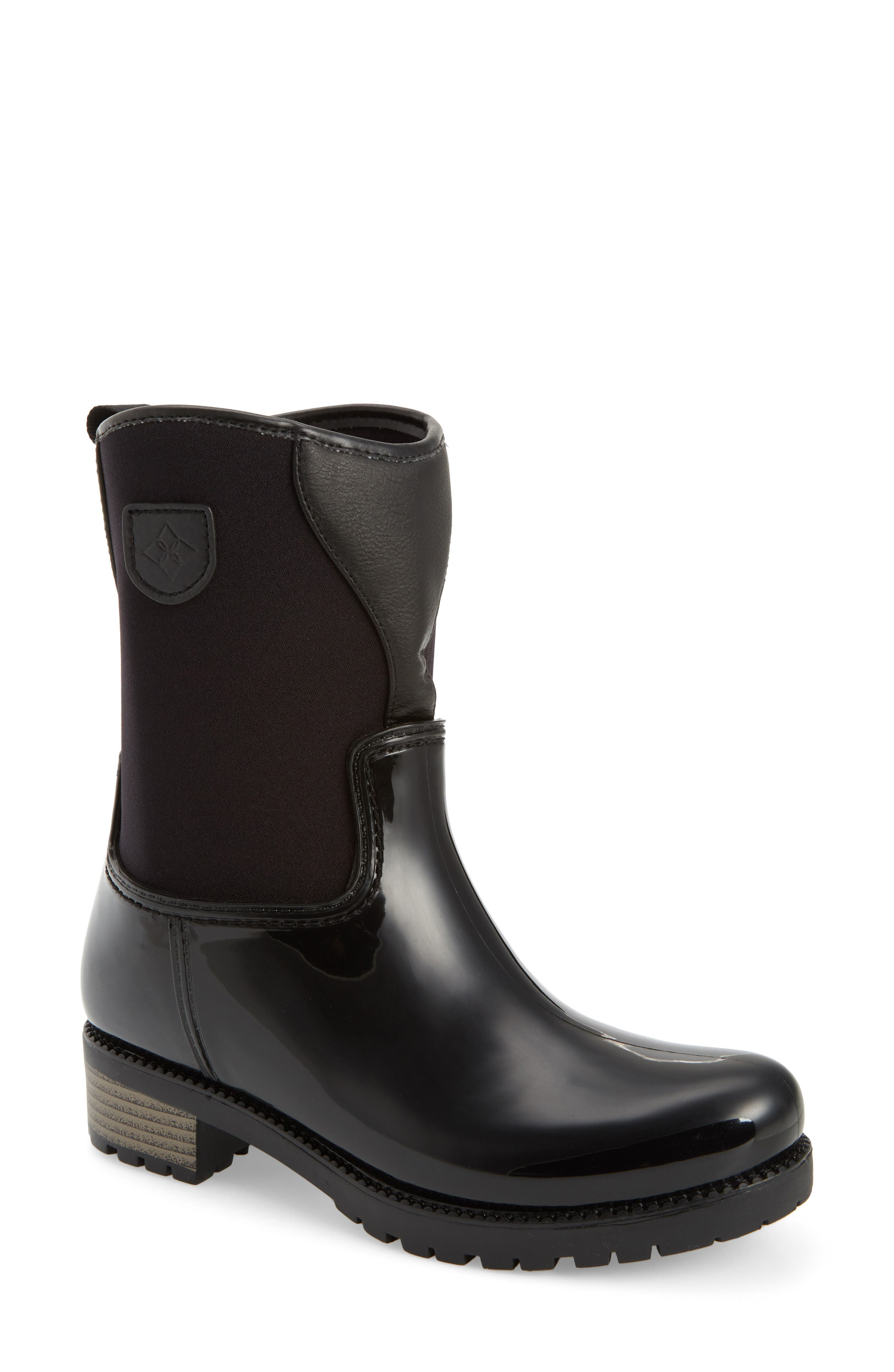 Dav Parma 2 Mid High Rain Boot, Black